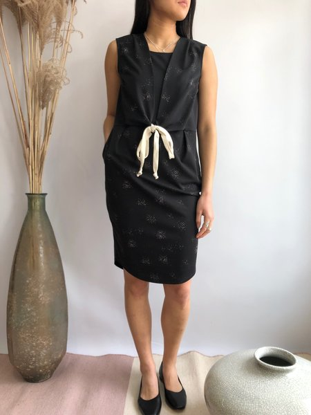 COKLUCH PASSIFLORE DRESS - BLACK SPRAY