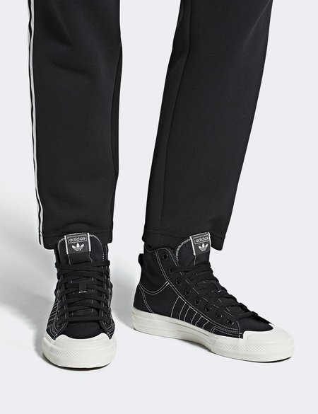 Adidas Nizza RF HI Canvas Trainers - Black
