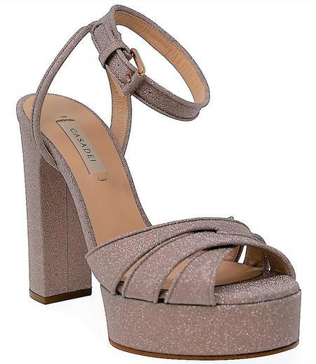 casadei Hi Heel Platform Sandal - Blush Pink