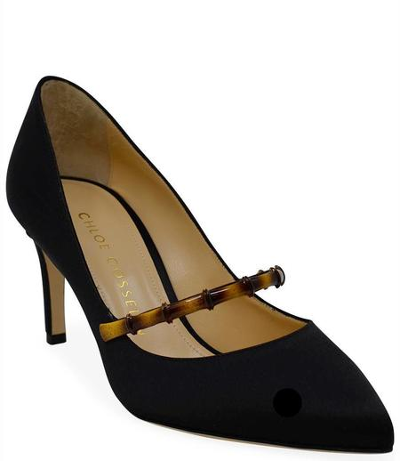 Chloe Gosselin Black August 70 Pointed Pump