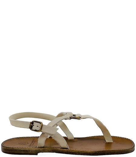 Silvano Sassetti Bianco Leather Sandals