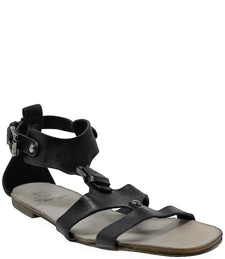 Silvano Sassetti Black Leather Sandals