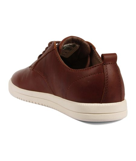 Clae Oiled Leather Ellington - Chestnut Brown