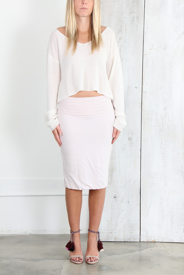 Raquel Allegra DOUBLE LAYER SKIRT IN LILAC