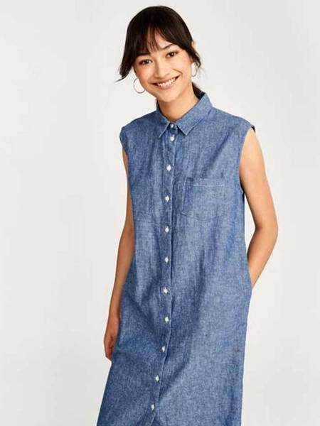 Bellerose Grunge Denim Dress