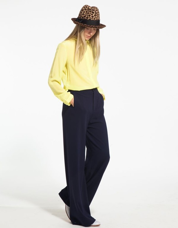 Gat Rimon Yellow Silk Collared Shirt