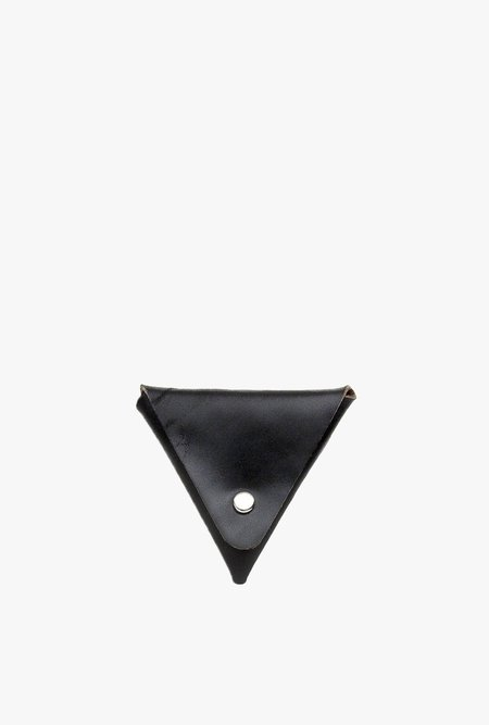 Friday and River Triangle Coin Pouch - black