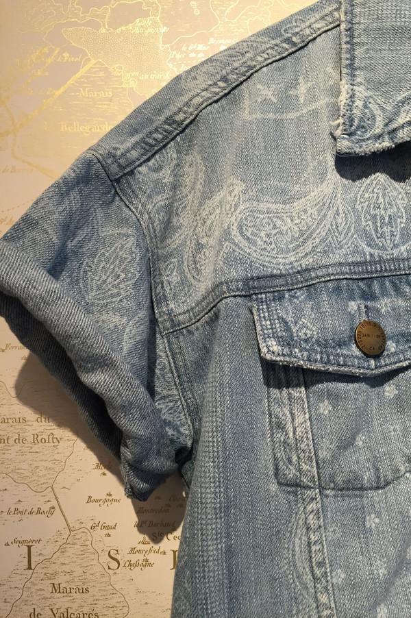 Current Elliott 'Rolled sleeve trucker' denim jacket