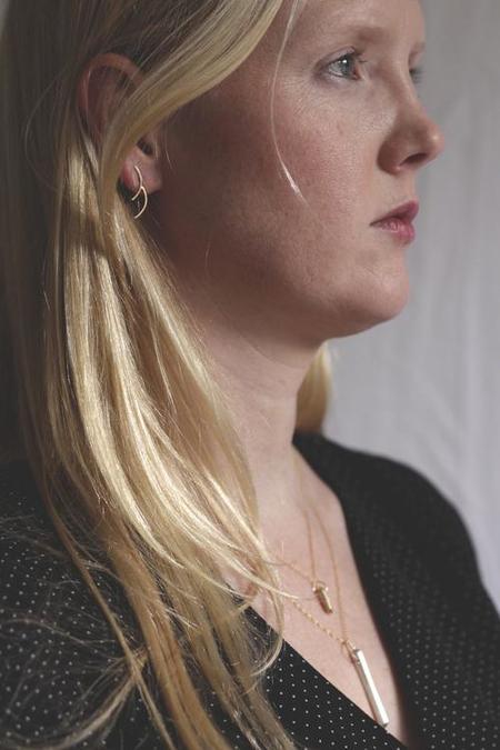 Rebecca Mir Grady Double Cloudbreak Earring - Silver