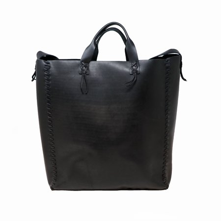 Forager Co. Leather Laced Buckskin Bag - Black