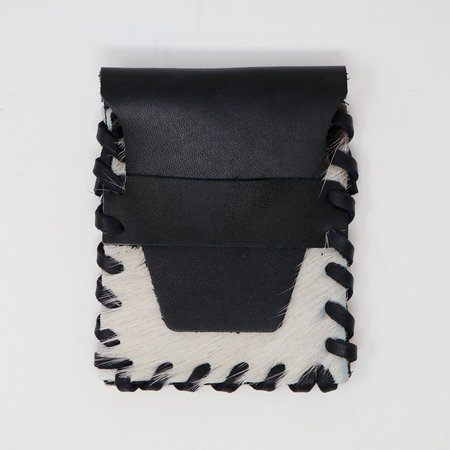 Forager Co. Cowhide Laced Buckskin Wallet - Black