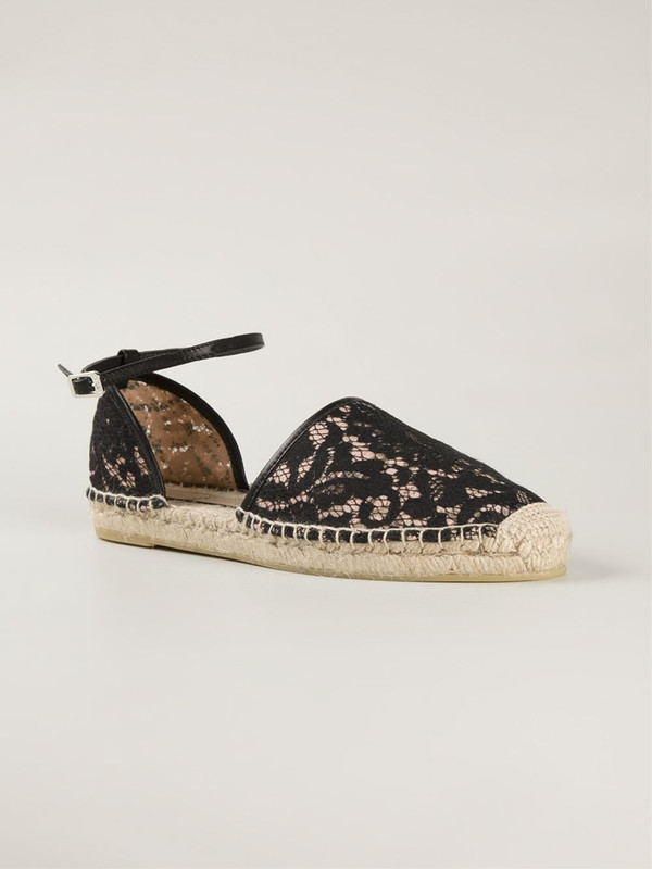 No. 21 Lace espadrille with ankle strap