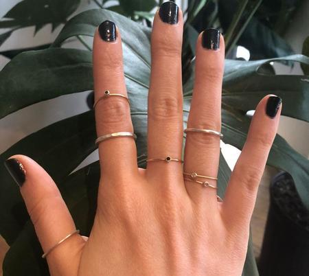 Rebecca Mir Grady Thetis Black Diamond Ring - Gold