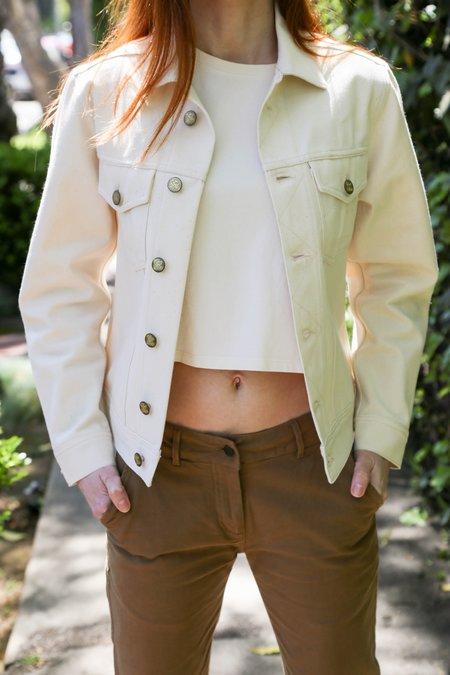 Girls of Dust Bull Denim Jacket - White