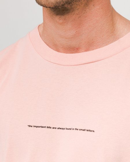 Loreak Short Sleeve Big Important T-Shirt - Pink