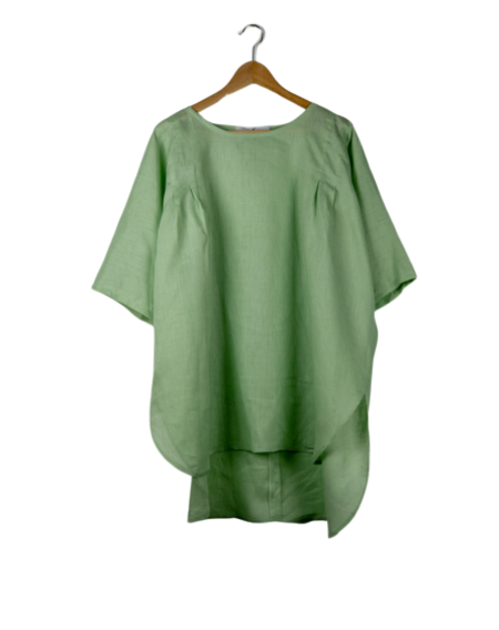 Devlyn Van Loon Pleated Shoulder Tunic - Celadon