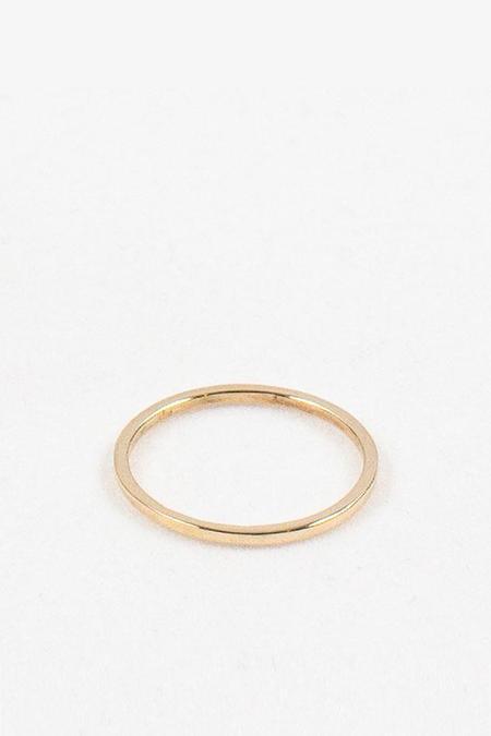 Emily Triplett Simple Ring - 14K Yellow gold