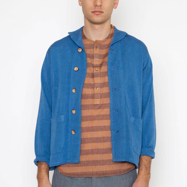 Men's New Market Goods Asamani Canvas Navy Coat