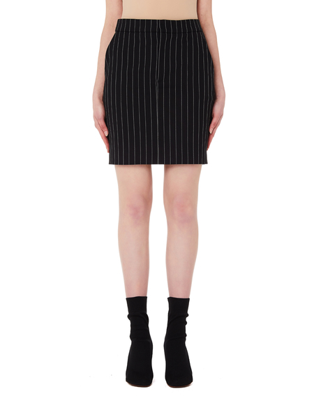 1d47221d6405 Vetements Striped Wool Skirt - Black Vetements Striped Wool Skirt - Black
