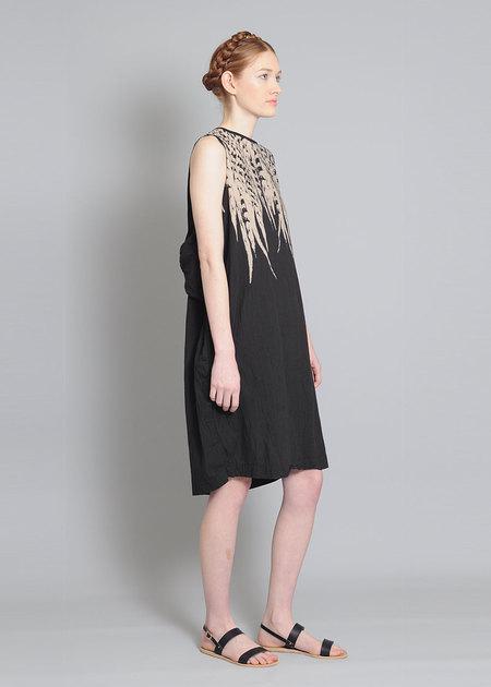 Uzi Black Feather Dress