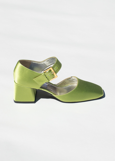9d8a821be Suzanne Rae Maryjane With Silver Bow in Green ...
