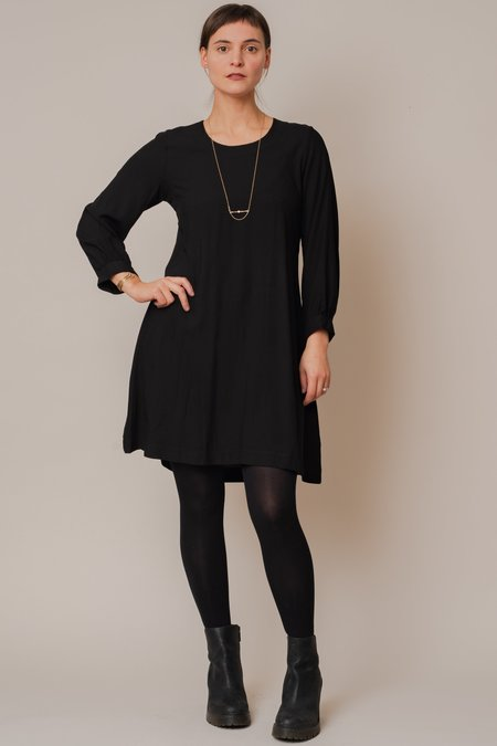 Cameo Long Sleeve Mini Dress - BLACK