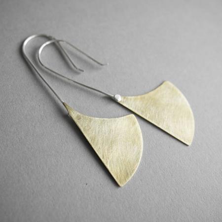 Modern Madini Machete Drop Earrings - BRASS