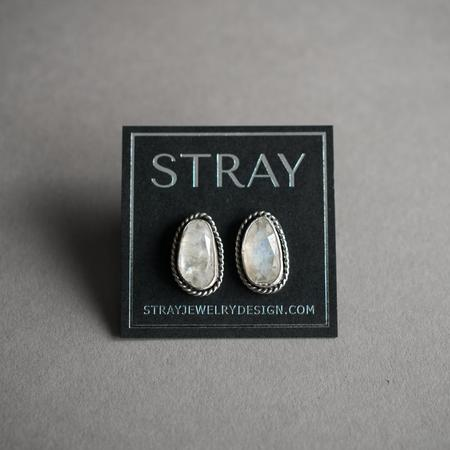 Stray Moonstone Stud Earrings - Silver