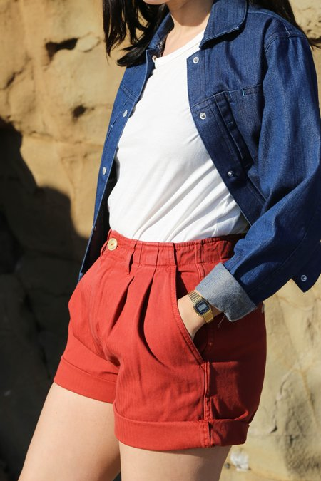 Girls of Dust HBT River Shorts - Redwood