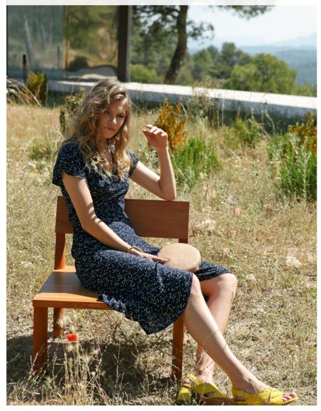 indi & cold Wrap Dress - Marino
