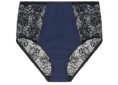 Fortnight Mira High-waisted Briefs - Navy/Black