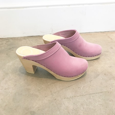 No.6 Old School High Heel Clog - Violet