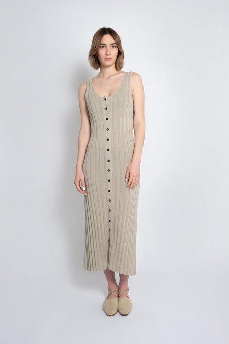 Micaela Greg Accordion Pleated Dress - Sea Salt