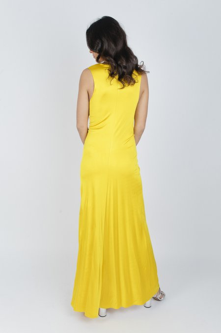 By Malene Birger Ruched Dress - Dandelion