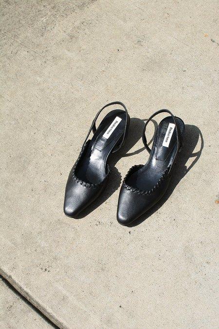 Reike Nen Asymmetry Low Heel Slingback - Black