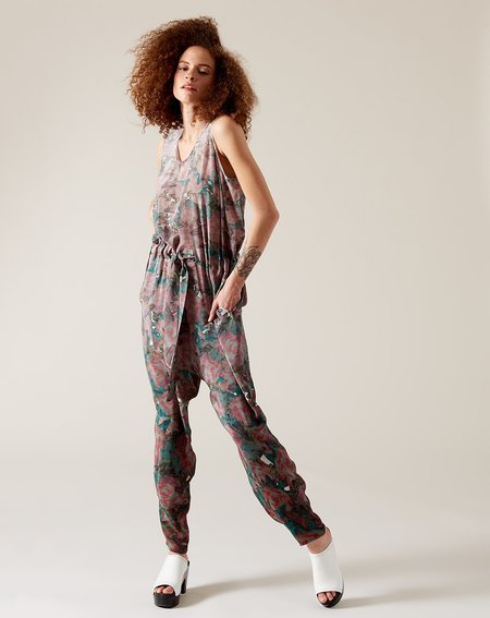 Anntian Long Overall - Panel Print J