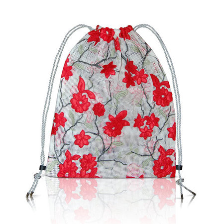 altaire Pouch Bag - Mesh Flower