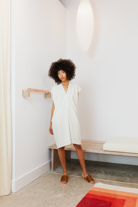 Miranda Bennett Silk Noil Petite Everyday Dress - Natural