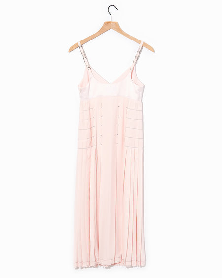 Cedric Charlier Pleated Dress - Blush pink