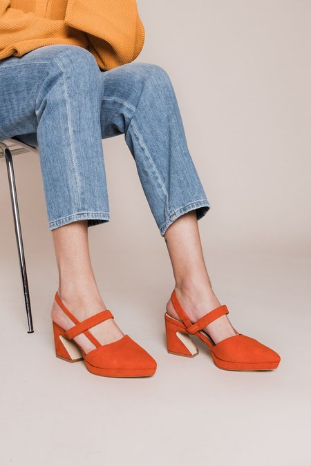 """""""INTENTIONALLY __________."""" Ago Sandal - Coral Suede"""
