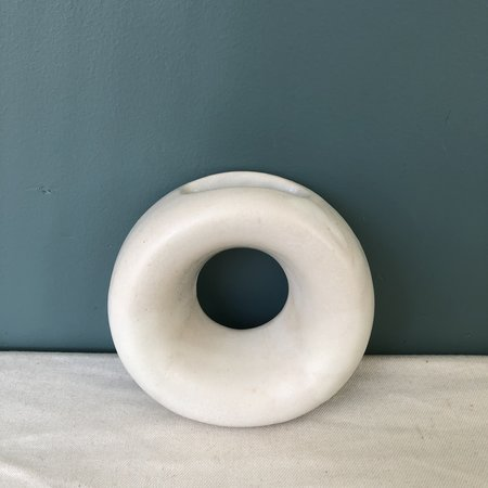 Lucy Michel Small Loop Vase - Matte White