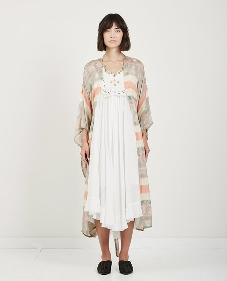 Mes Demoiselles PIROSH LONG KIMONO - MULTI COLOR STRIPES