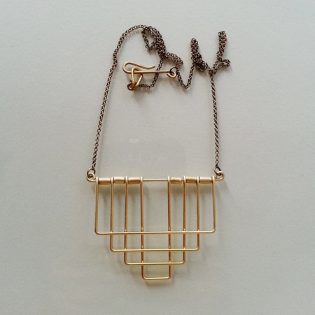 Hellbent Deco Rectangle Necklace