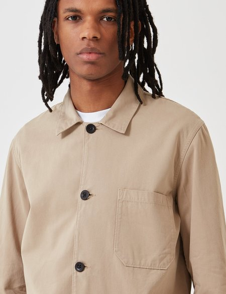 Portuguese Flannel Labura Cotton Jacket - Sand Brown