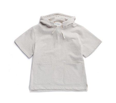 Eastlogue Hooded Half-Sleeve Sweatshirt - Oatmeal