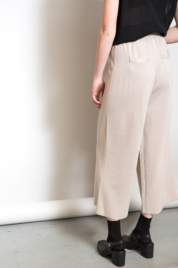 Achro Ribbed Waist Knit Pants / Beige