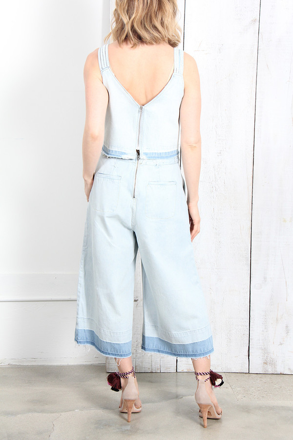 SEA WASHED OUT BRAIDED CULOTTES