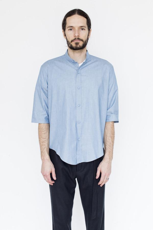 Men's Assembly Chambray Noncollar Shirt