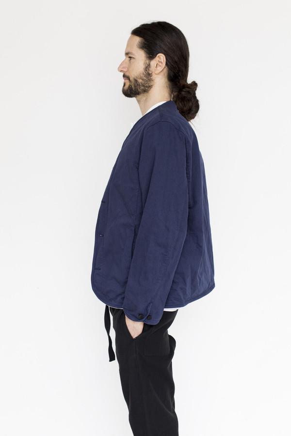 Men's Document Cotton Collarless Jacket