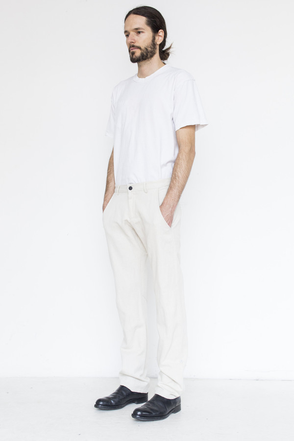 Men's Assembly Cotton Dart Pant - Natural